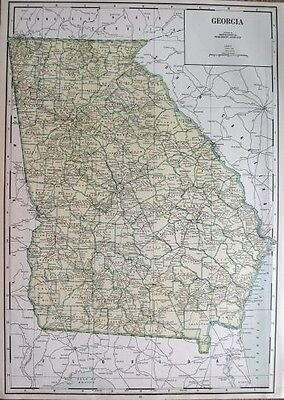 GEORGIA Map RARE SIZE Vintage 1942 Map of GEORGIA State Map 1402