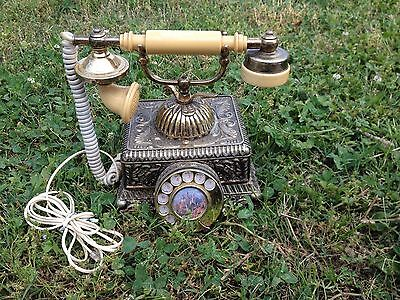 Vintage French Continental Rotary Phone Made in 1978~Working Condition