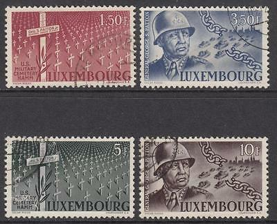 Luxembourg #242-45 used General Patton set 1947 cv $45.15