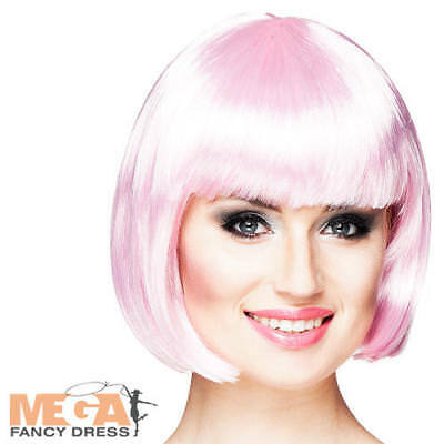 20s Light Pink Cabaret Wig Ladies Fancy Dress Showgirl Burlesque Adult Accessory