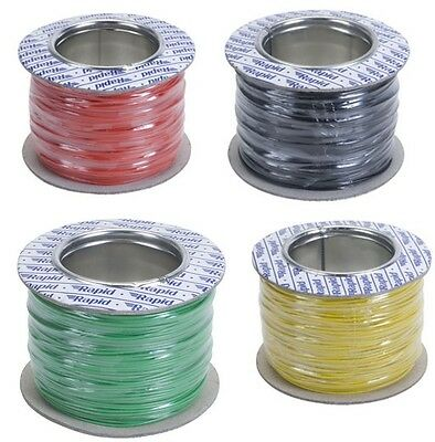 Model Railway/Railroad Layout/Point Motor Wire 4 x 100m Rolls Deal 7/0.2mm 1.4A