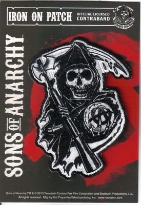 Sons of Anarchy Reaper Figure Logo Embroidered Patch, Licensed NEW UNUSED
