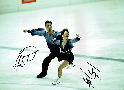 Jayne TORVILL Christopher DEAN Signed Autographed 16x12 SKATING Photo COA AFTAL