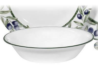 "1 Corelle OLIVE BRANCHES 18-oz SOUP Cereal BOWL 7 1/4"" Green Rim Tuscan Napa NEW"