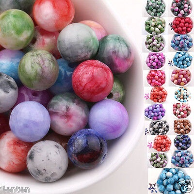 New Wholesale 6MM 8MM 10MM Natural Stone Gemstone Round Spacer Loose Beads Charm