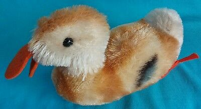 "Antique 4"" Steiff Play Duck Mohair is Colorful & Clean - Excellent Condition"
