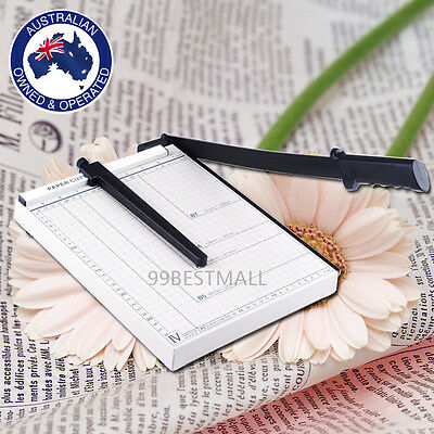 New Paper Cutter Metal Base Size A4-B7 Guillotine Paper Device Trimmer 12 sheets