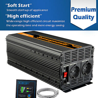 Convertisseur 3000W 6000W DC 12V à AC 220V Onduleur Power Inverter Softstart