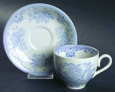 Burgess & Leigh ASIATIC PHEASANTS BLUE Cup & Saucer 42869