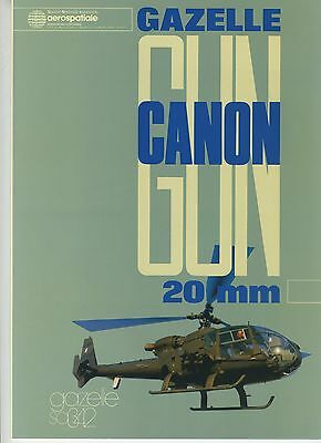 (102) Brochure GAZELLE GUN CANON 20 mm AEROSPATIALE