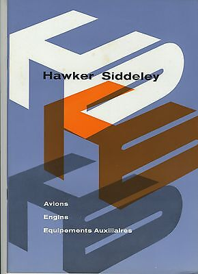 (102) Brochure HAWKER SIDDELEY AVIONS ENGINS EQUIPEMENTS AUXILIAIRES