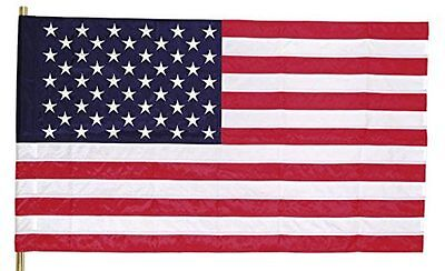 """29"""" x 50"""" Sleeved United States Flag Print Polycotton Made in USA Valley Forge"""