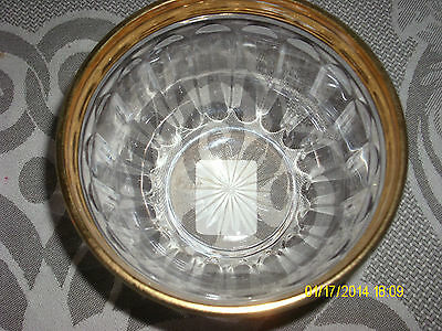 mikasa GOLDEN LEGACY INDIVIDUAL BOWL 4 INCH EUC TAG ON BOTTOM TRIMMED IN GOLD