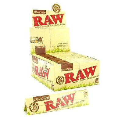 4 Packs Raw Organic Hemp King Size Slim Natural Unrefined Rolling Papers