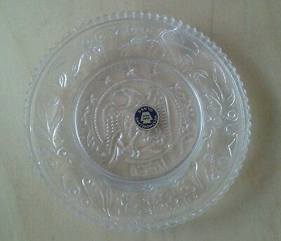 Antique Westmoreland Teeny Eagle Glass Plate Embossed
