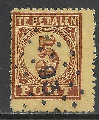 Netherlands stamps 1870 NVPH Due 1 Plate Error CANC  VF  NVPH not listed