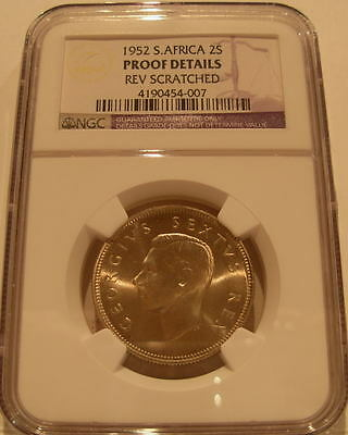 South Africa 1952 Silver 2 Shillings NGC Proof