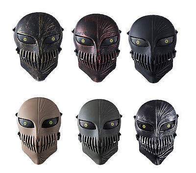 Tactical Airsoft Paintball Cs War Game Full Face Protective Skull Mask