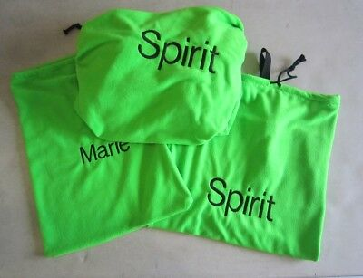 Horse Saddle cover Bridlebag & Free hatbag also EMBROIDERED FREE Lime Green