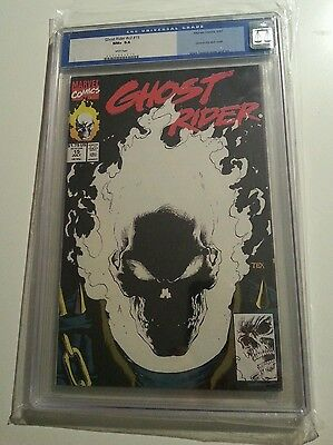CGC 9.6 NM+ GHOST RIDER #15 GLOW in Dark cover Mark Texeira art WHITE PAGES