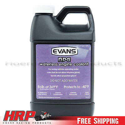 Evans Waterless Coolant- NPG -1/2 Gallon-EC10064