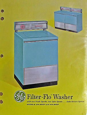 General Electric GE Filter-Flo Washer 1950s Advertising Brochure