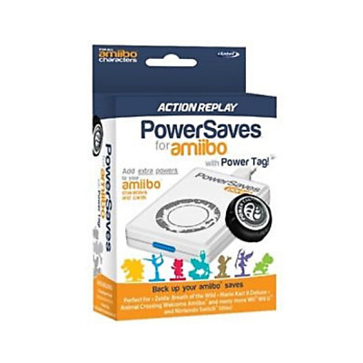 Datel Amiibo Action Replay Powersaves Boost Cheats Code With Power Tag - White