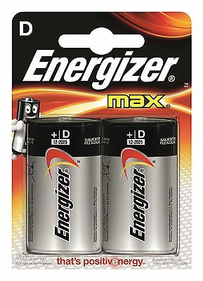 Energizer Max D Battery 2 Pack High Power