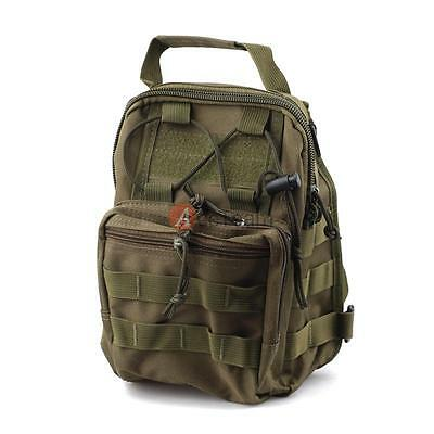 Army Green Tactical Sling Chest Assault Pack Messenger Shoulder Bag Backpack