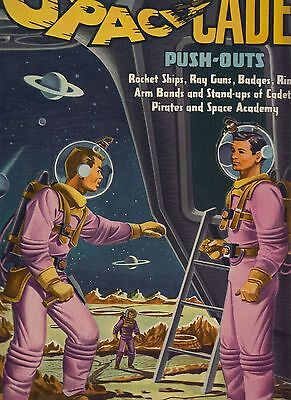 TOM CORBETT SPACE CADET PUNCH-OUT BOK, 1952, only a  small inner border off