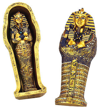 Ancient Egyptian King Tut Coffin Sarcophagus Figurine Finest Collectible