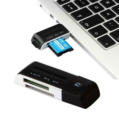 6 in 1 Memory Card Reader for SD, SDHC, SDXC, Micro SD, Memory Stick Pro Duo, M2
