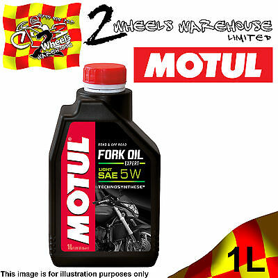 1x 1L LITRE MOTUL MOTORCYCLE FORK OIL EXPERT LIGHT 5W MOTOR BIKE RACE TRACK DAY