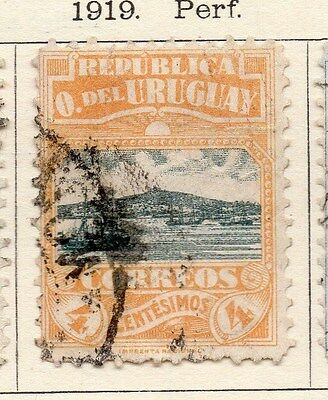 Uruguay 1919 Early Issue Fine Used 4c. 141295