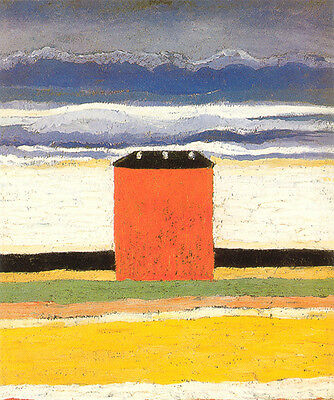 Kasimir Malevich Red House 1932 Vintage Print