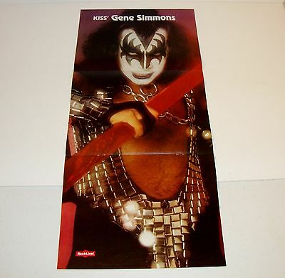 KISS GENE SIMMONS 3 Page Centerfold Poster From 16 Magazine Rockline w/ Journey