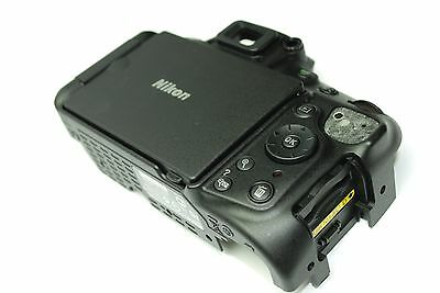 Nikon D5200 REAR COVER ASSEMBLY AUTHENTIC ORIGINAL PART OEM + LCD and Key button