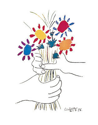 Pablo Picasso Flowers Vintage Wall Art Poster Print Picture Giclee Artwork