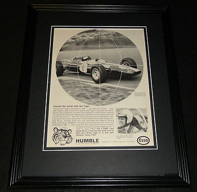 1966 Humble Oil & Refining Co 11x14 Framed ORIGINAL Vintage Advertisement