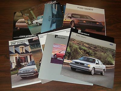 1970S-1990S Ford Brochure Lot Of 13 - Automobile Literature - Mustang - Lm 200