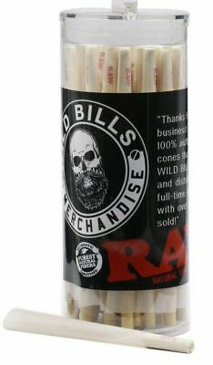 RAW Organic King Size Pre-Rolled Cones with Filter (100 Pack)