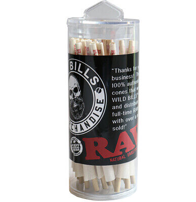RAW Organic 1 1/4 Size Pre-Rolled Cones with Filter~75  Pack~Fast Free Shipping