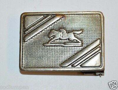 WOW Vintage 1960s Polo Horse Riding Silver Tone Small Slim Belt Buckle RARE