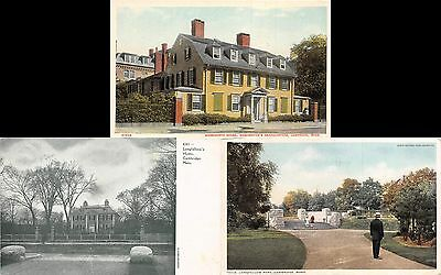 Lot of 3 Early/Vintage Cambridge, Massachusetts Early 1900s Postcards #43741