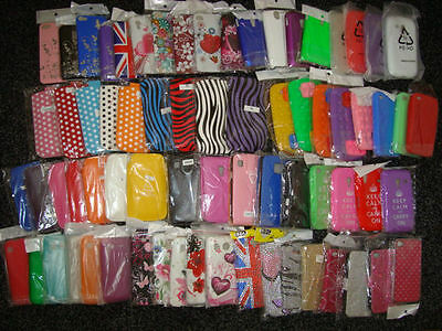 Wholesale Joblot Of 50 X  Mobile Phone Covers + Pouchs For Various Models - New