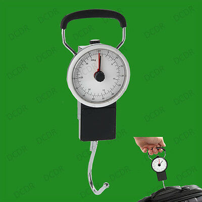 Mechanical Luggage Scale With 1m Tape, Weigh Suitcase Breifcase Bag, Up To 32kg