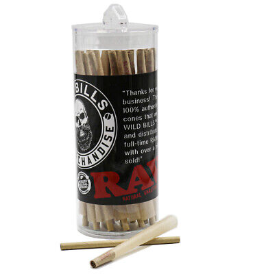 RAW Cones King Size Pre-Rolled Cones w/ Filter (50 Pack)