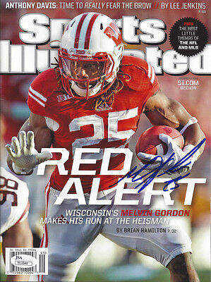 BADGERS Melvin Gordon signed Sports Illustrated JSA AUTO SI Autographed Chargers