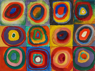 Squares with Concentric Circles 1913 Wassily Kandinsky Vintage Print