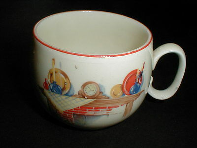 W S George/Edwin Knowles FIREPLACE Mantle Red Trim Cup/s